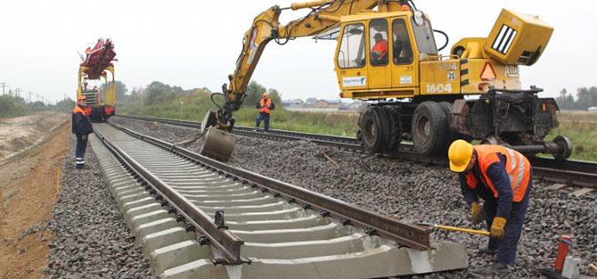 Верхнее строение железнодорожных путей